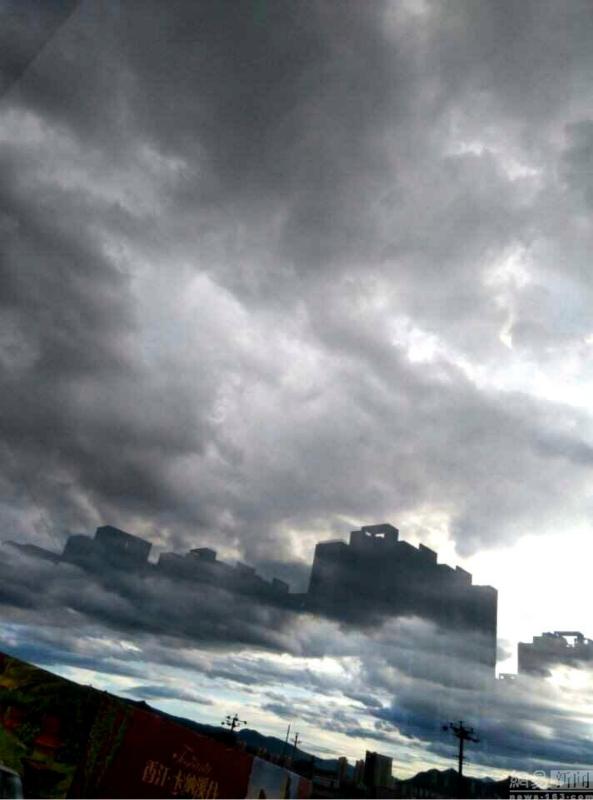 Photos : un impressionnant mirage dans les nuages à Chengde