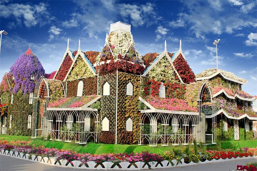 Duba le plus grand jardin de fleurs au monde ouvre en for Le jardin des fleurs