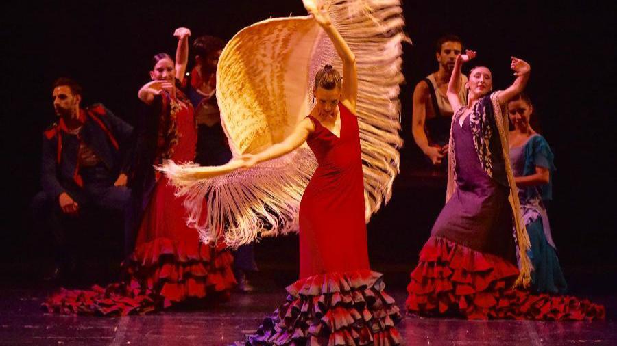 Le spectacle de théâtre dansé flamenco Carmen sur scène à Beijing