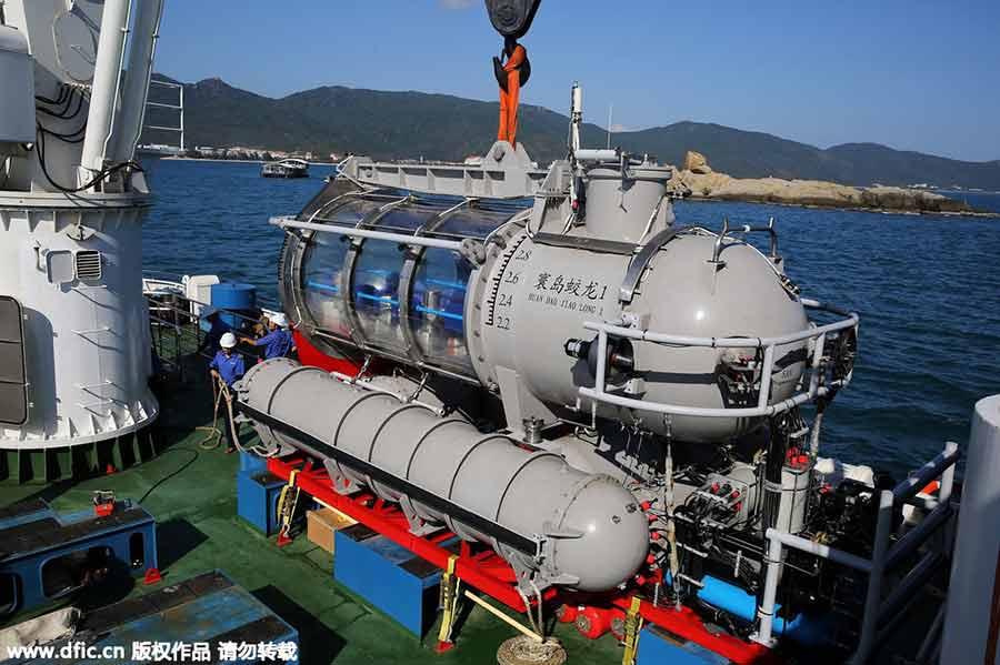 Le plus gros sous-marin de tourisme au monde à l'essai dans le Hainan
