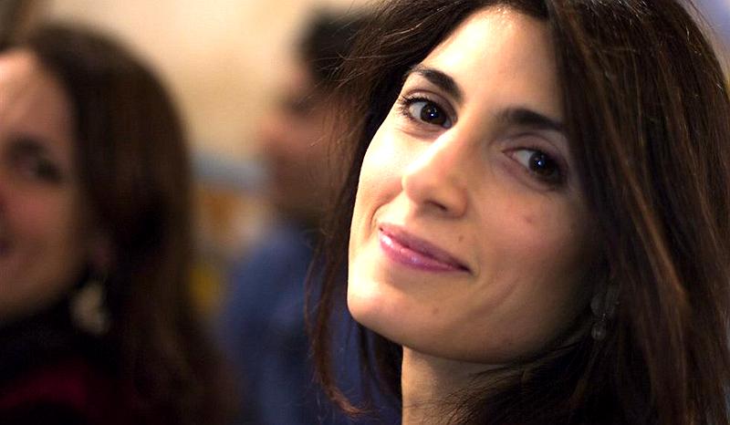 une belle femme de 38 ans lue pour la premi re fois maire de rome. Black Bedroom Furniture Sets. Home Design Ideas
