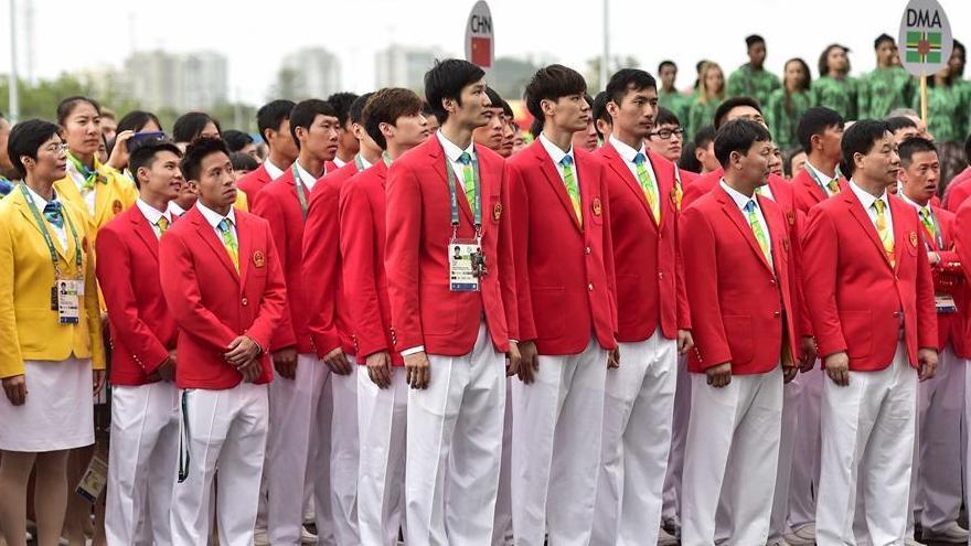 Cérémonie de lever du drapeau au village olympique