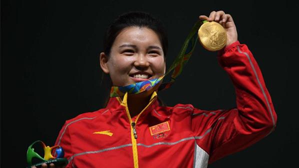 JO 2016 : la tireuse Zhang Mengxue apporte la première médaille d'or à la Chine