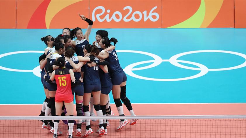 JO 2016 : l'équipe chinoise de volley-ball féminin va en finale