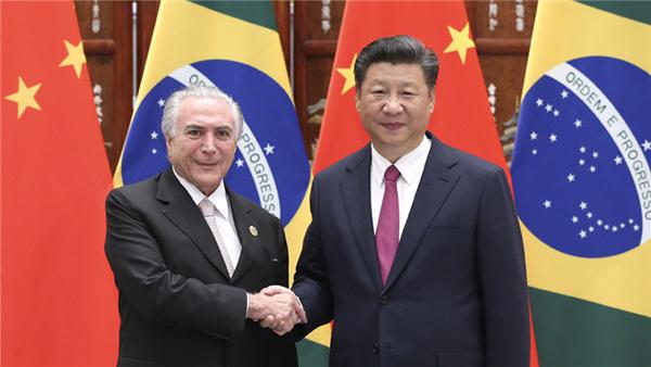 La Chine et le Brésil promouvront leur partenariat stratégique global