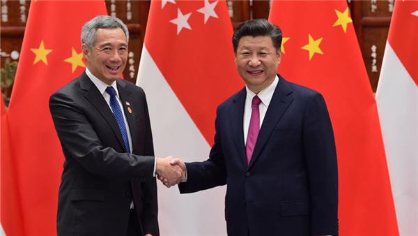 Le président chinois rencontre le PM singapourien