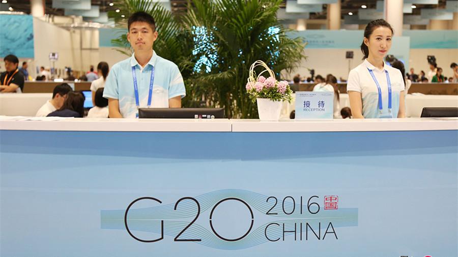 Au cœur du centre de presse du G20 de Hangzhou