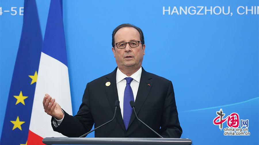G20: conférence de presse du Président François Hollande après la clôture du sommet de Hangzhou