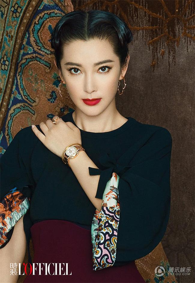 Li Bingbing pose pour L'Officiel