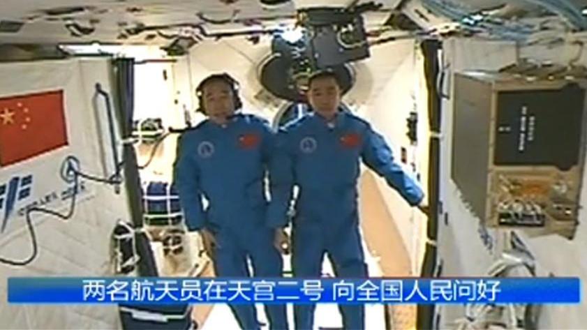 Espace : Jing Haipeng et Chen Dong s'installent à bord du laboratoire Tiangong-2
