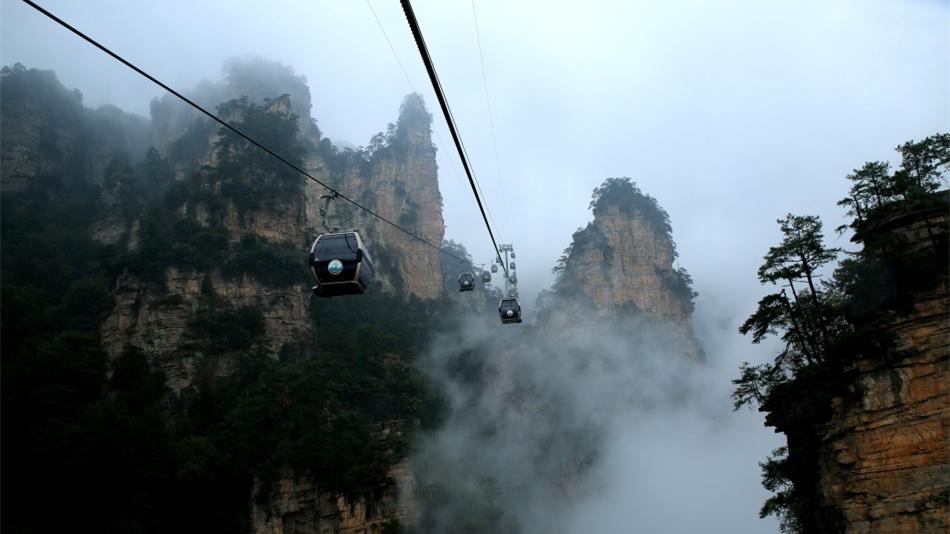 La brume du mont Tianzi à Zhangjiajie