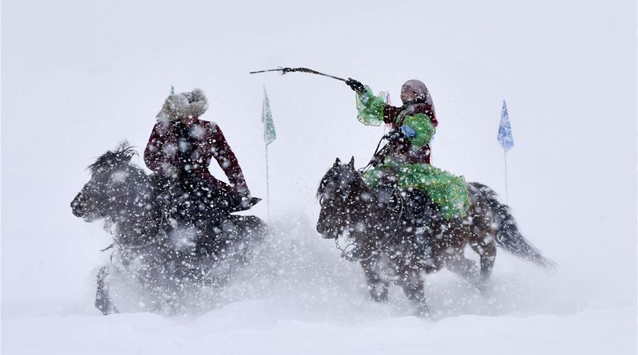 Coup d'envoi des activités de neige dans le Nord-ouest de la Chine