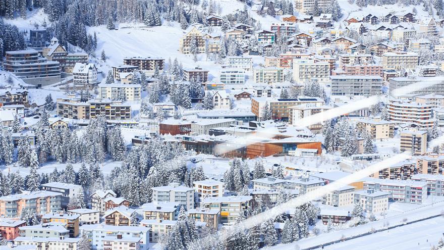 En images : Davos sous la neige