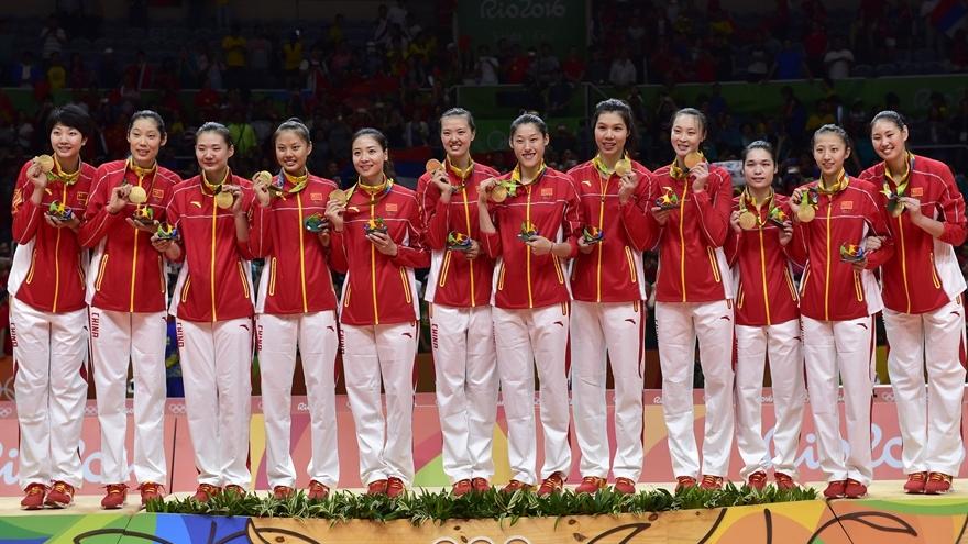 Victoire aux JO de l'équipe de volley-ball féminin