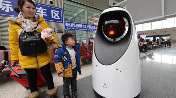 A la gare de Zhengzhou, un robot patrouille pour surveiller la qualité de l'air