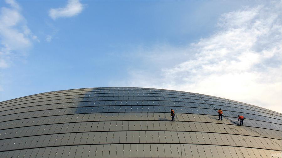 Beijing : le Centre des arts de la scène se prépare pour accueillir les deux sessions