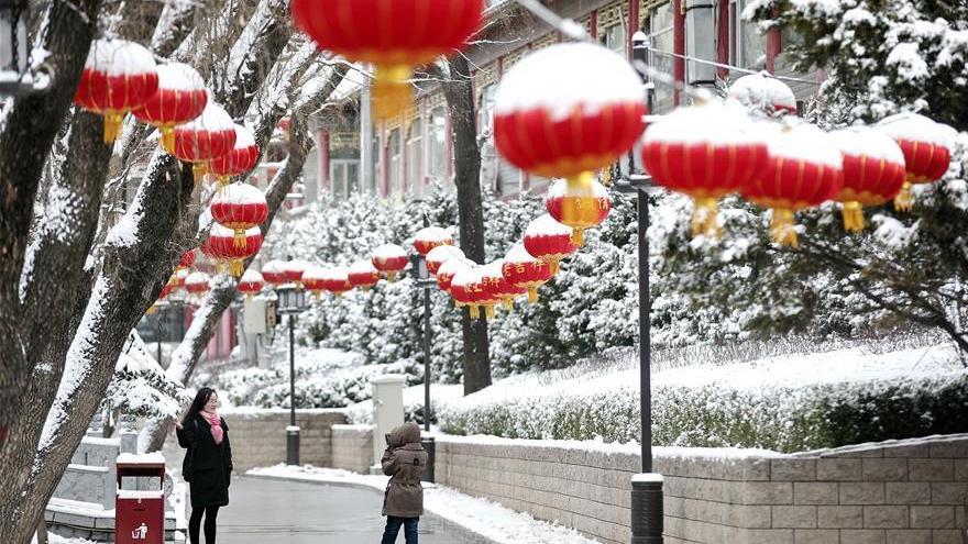 Chutes de neige dans le Nord de la Chine après l'arrivée d'un front froid