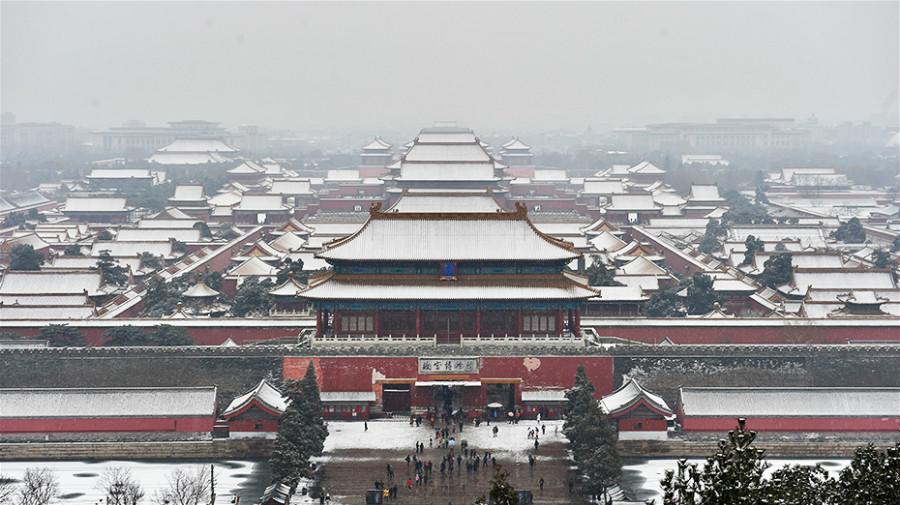 Photos : Beijing sous la première neige du printemps