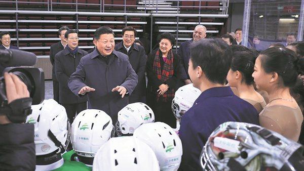 Xi Jinping fixe des objectifs élevés pour les Jeux Olympiques d'hiver et les athlètes