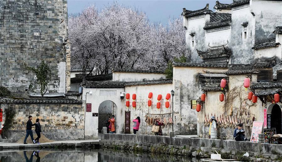 Les beaux paysages printaniers du sud de l'Anhui