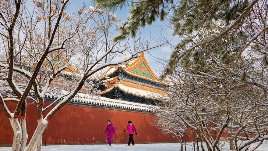 Hohhot, capitale de la région autonome de la Mongolie intérieure, touchée par des chutes de neige