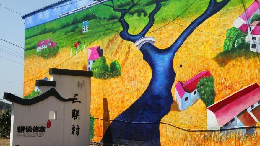 Jiangxi : des fresques géantes sur les bâtiments d'un village font le buzz
