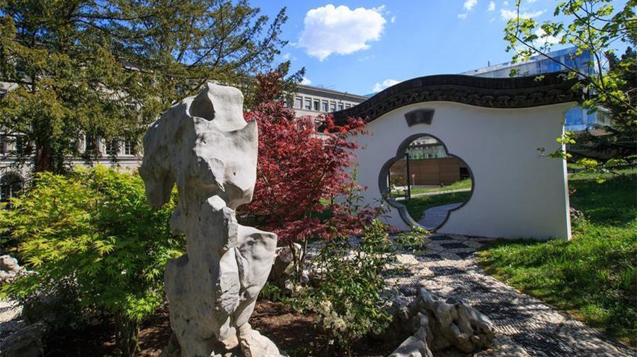 Le jardin chinois traditionnel de style Gusu de l'OMC à Genève