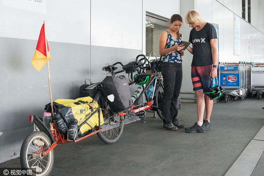 Un couple français va traverser la Chine à vélo pour faire la promotion des voyages verts