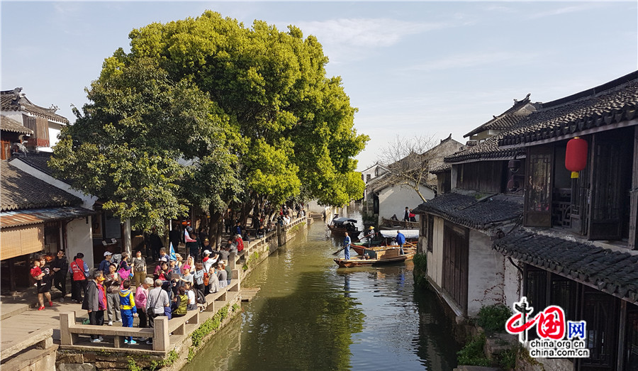 Jiangsu : la vieille ville de Zhouzhuang, ou « la petite Venise de Chine »