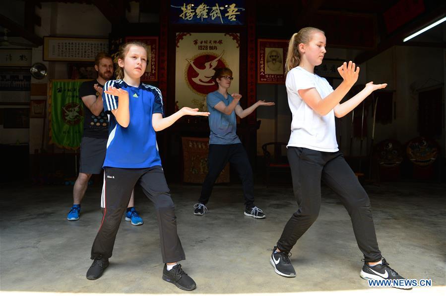 Une jeune allemande apprend les arts martiaux chinois dans for Les arts martiaux chinois