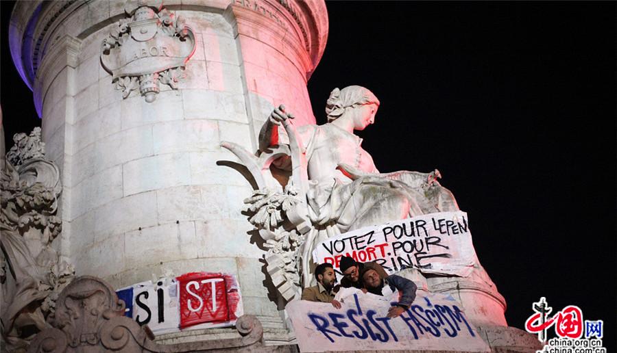 Paris : manifestations contre les résultats du premier tour de l'élection présidentielle