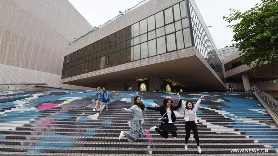 Hong Kong décore ses escaliers pour célébrer le 20e anniversaire de la création de la RAS