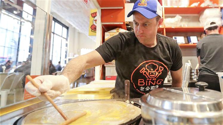 Un américain et son restaurant de crêpe chinoise à New York