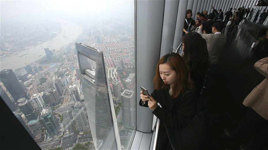 Shanghai : la plateforme panoramique à 548 mètres de haut ouverte au public