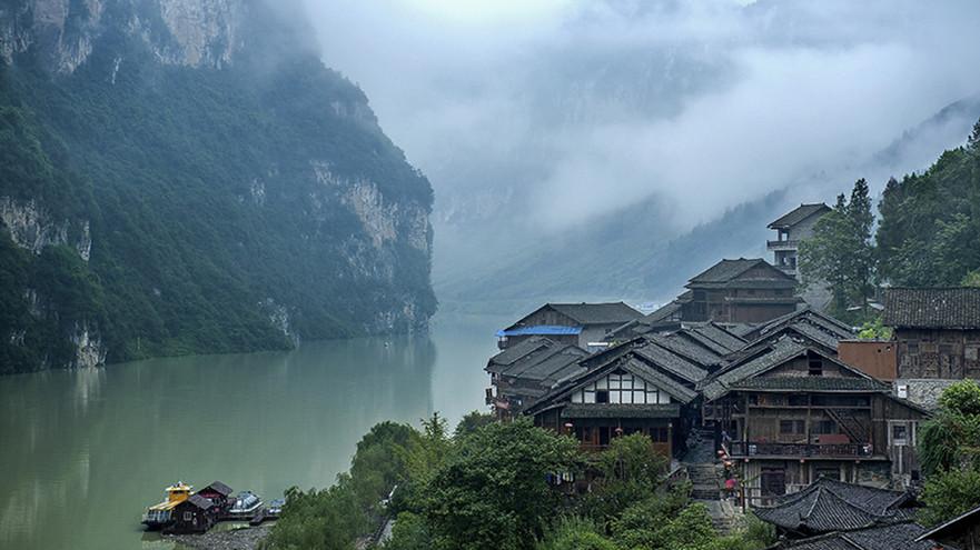 La beauté à couper le souffle des villages chinois traditionnels
