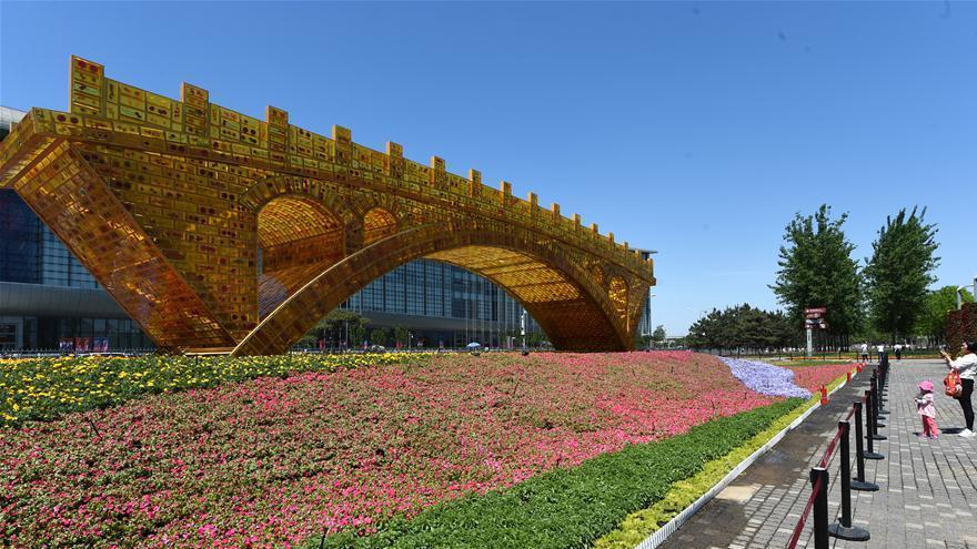 Beijing : 'Le pont d'or de la Route de la Soie' dans le parc olympique