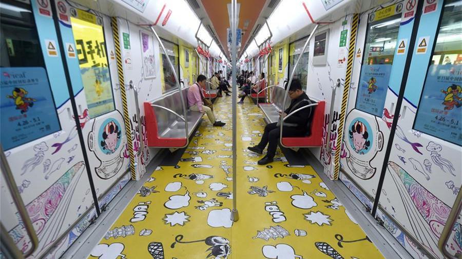 Le métro de Hangzhou décoré de personnages d'animation pour soulager la pression des transports