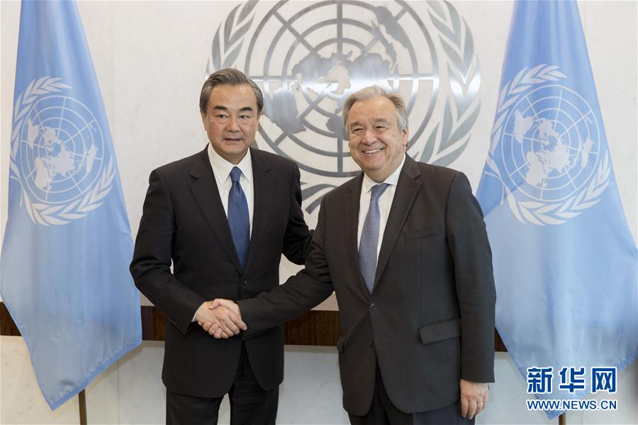 le ministre chinois des ae rencontre le secr taire g n ral de l 39 onu. Black Bedroom Furniture Sets. Home Design Ideas