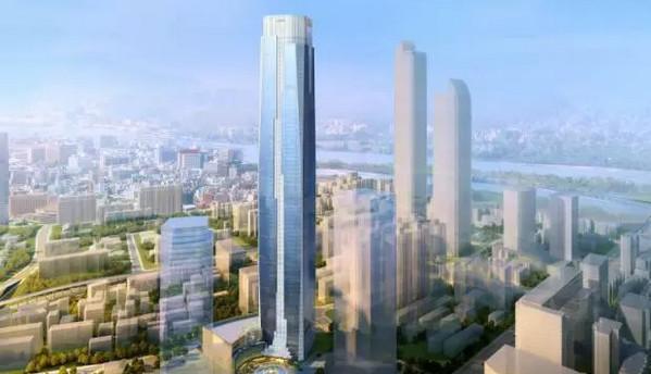 Le bâtiment principal du Shimao Plaza de Changsha dépasse déjà les 300 mètres de haut