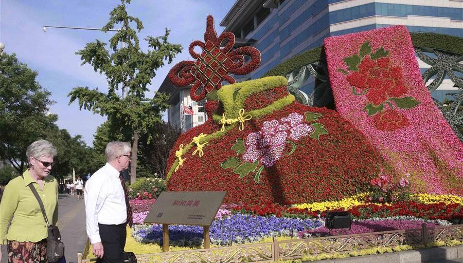 Les décorations de la ville de Beijing à la veille du Forum de « La Ceinture et la Route »