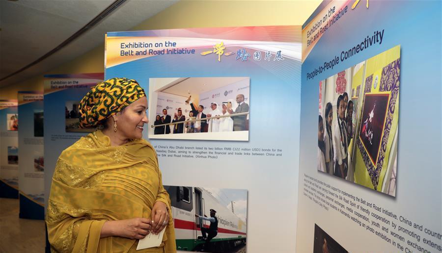 Ouverture de l'exposition sur l'initiative de « La Ceinture et la Route » au siège des Nations unies
