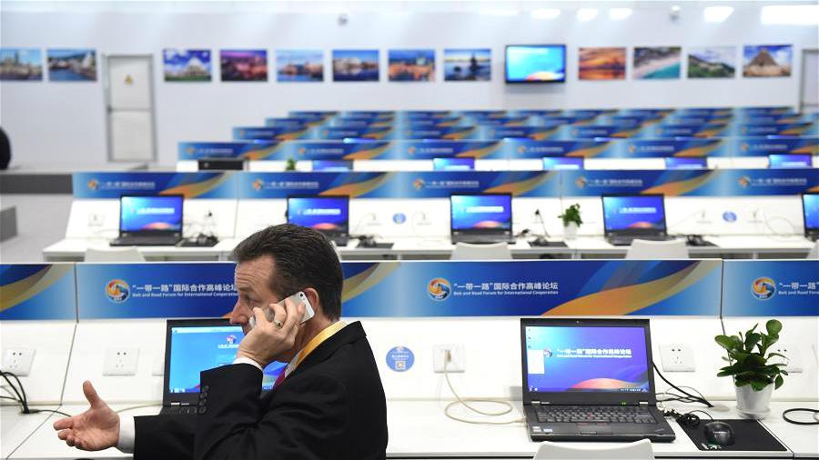Ouverture du centre de presse du Forum de « la Ceinture et la Route » pour la coopération internationale
