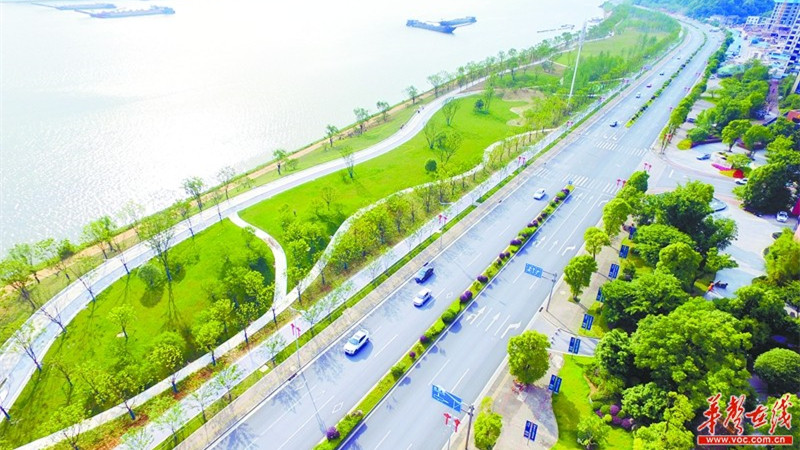 Les travaux d'aménagement de la section de Jinxia sur le Xiangjiang à Changsha