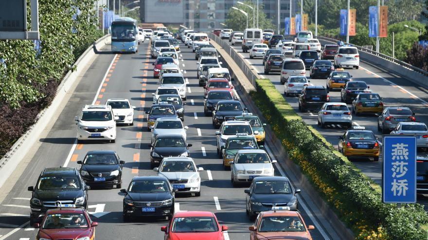 En images : Beijing dans les embouteillages