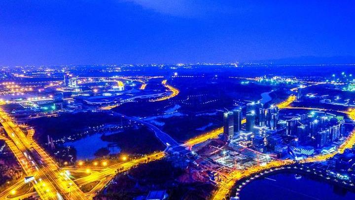 En images : vue aérienne de la zone de libre-échange du Sichuan