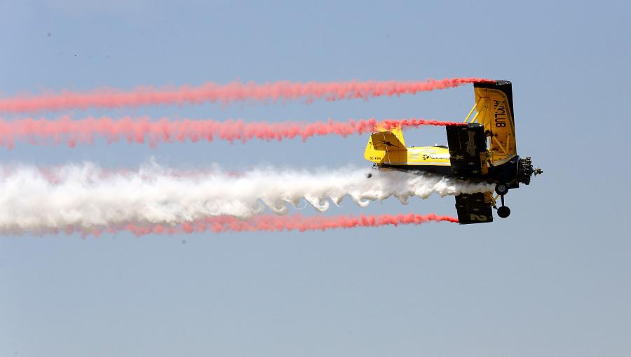 Spectacle de voltige aérienne à Anyang, au Henan