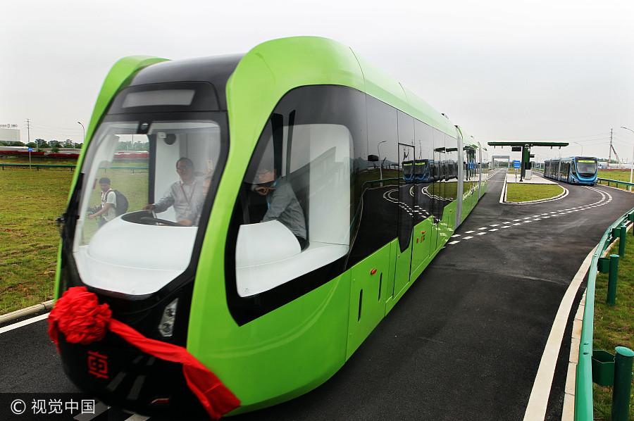 Lancement du premier train sur rails virtuels du monde