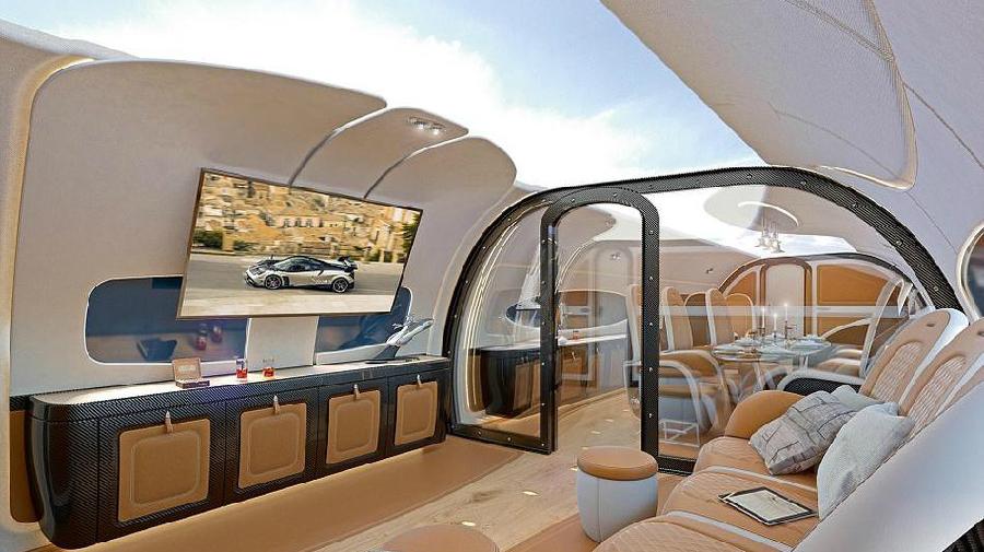 Airbus dévoile un jet équipé d'un toit panoramique