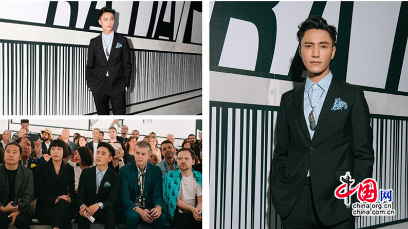 Chen Kun au premier rang du défilé Prada à Milan