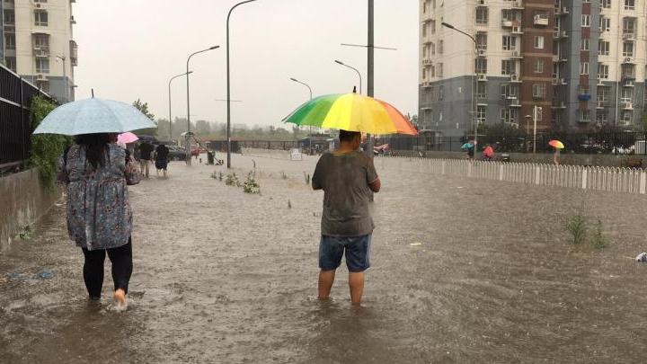 Beijing frappée par des violentes trombes d'eau